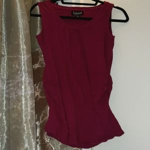 4/$25 - Kenneth Cole Unlisted ruched magenta top M